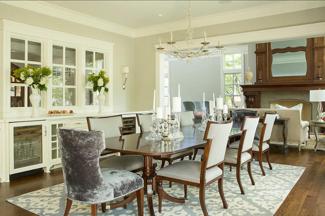 Dining Room Ideas Elegant Designer Painted In Benjamin Moore Revere