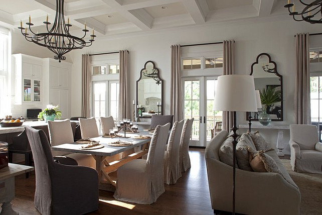 Open Floor Plan Kitchen Dining Room Family Room. #openFloorPlan #DiningRoom #Kitchen #familyRoom Geoff Chick