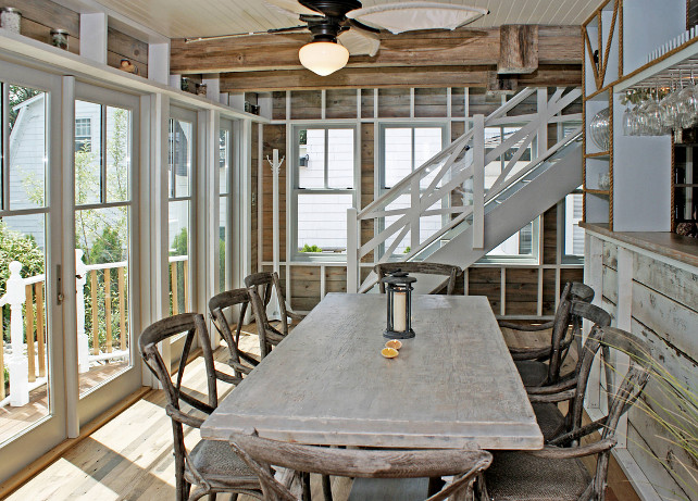Dining Room Coastal With Table The Weathered