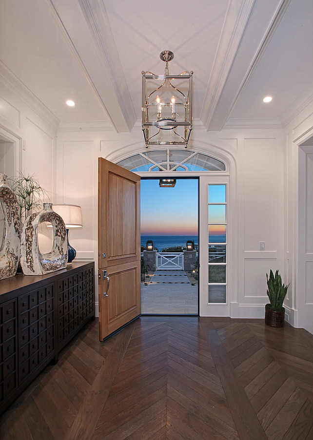 Coastal Foyer Lighting : Ultimate california beach house with coastal interiors