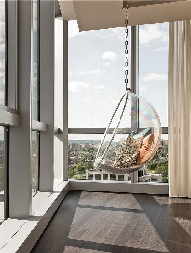 Eero Aarnio Bubble chair. Modern Interior Ideas. Eero Aarnio Bubble chair. Terrat Elms Interior Design.