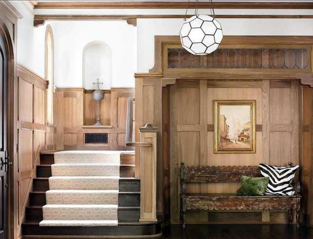 Foyer Stairs Carpet : Inspiring home with transitional interiors bunch