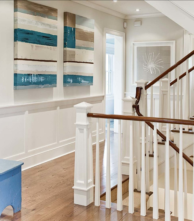Benjamin Moore Trim Paint Color Ideas. the woodwork is Benjamin Moore, Simply White OC117 #BenjaminMoore #OC117 #SimplyWhite