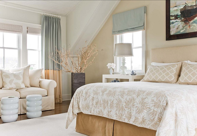 Bedroom Design Ideas. You can't go wrong with this color palette in the bedroom. #Bedroom #Color #Decor