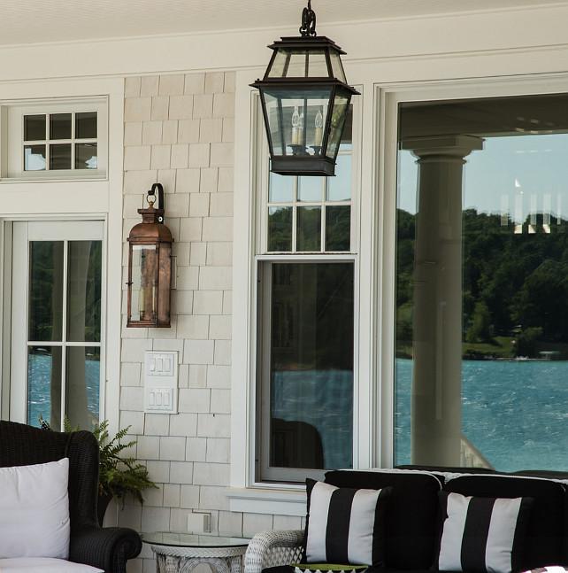 Home Exterior Lighting Ideas: Coastal Home With Traditional Interiors