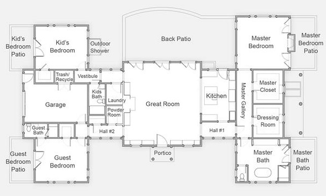 Family Home Floorplan Ideas #FamilyHomeFloorPlan #FamilyHomeBluePrints