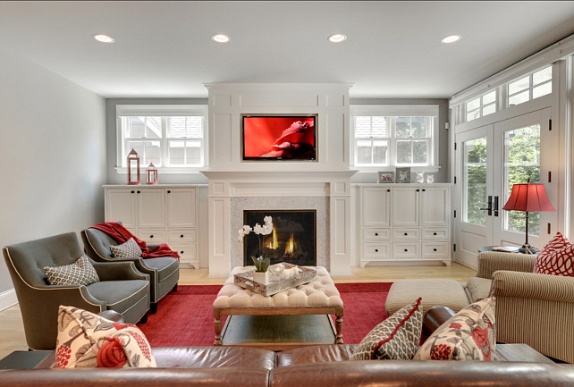 Family Room Design Ideas. Great family room design. #FamilyRoom #Interiors #HomeDecor