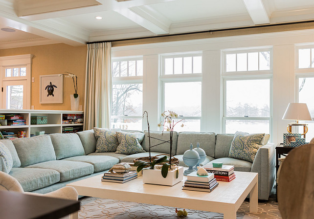 Family room. Storage family room. This family room has great storage ideas. Ideal for families with small kids. #FamilyRoom #Storage #Kids