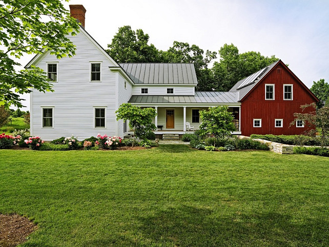Farmhouse. Farmhouse Exterior. Farmhouse Exterior Ideas. Classic Farmhouse Exterior. Traditional Farmhouse Home Exterior. #Farmhouse #FarmhouseExterior   Church Hill Landscapes, Inc.