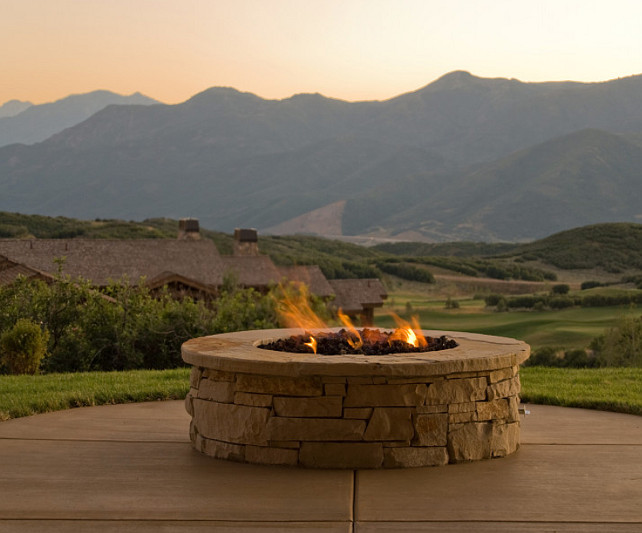 Fire Pit. Firepit Ideas. #Firepit Cameo Homes Inc.