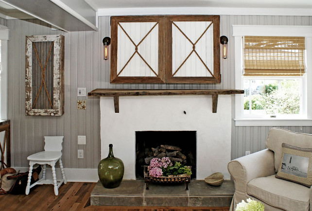 Nice Fireplace TV Cabinet. Fireplace TV Cabinet. The Cabinet Above Fireplace  Hides The Tv