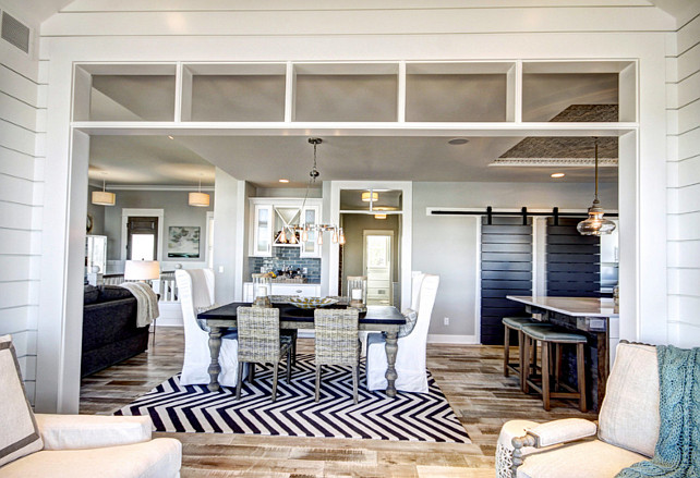 Ranch style home with transitional coastal interiors for Main floor flooring ideas