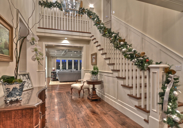 foyer christmas decor ideas foyerchristmasdecor spinnaker development - Christmas Decorating Ideas For Foyer