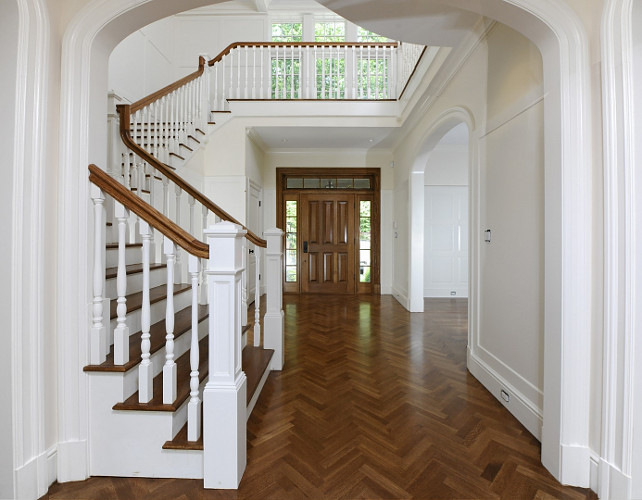 Foyer Flooring Foyer Herringbone Flooring #Foyer #FoyerFlooring #HerringboneFlooring Via Sothebys' Homes.