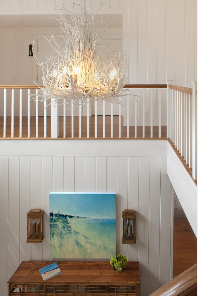 Foyer Lighting. Foyer Lighting Ideas. Coastal Foyer Lighting #FoyerLighting Ben Gebo Photography. Annsley Interiors.