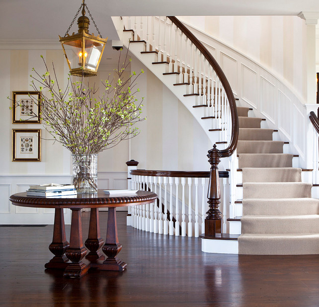 Traditional Foyer Xl : Traditional nantucket cottage with coastal interiors