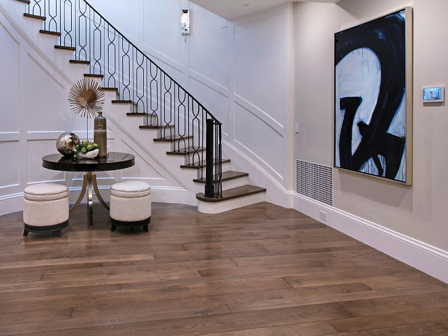 Foyer. Basement Foyer. Foyer Ideas. Iron Railing Staircase Foyer. #Foyer. Spinnaker Development.