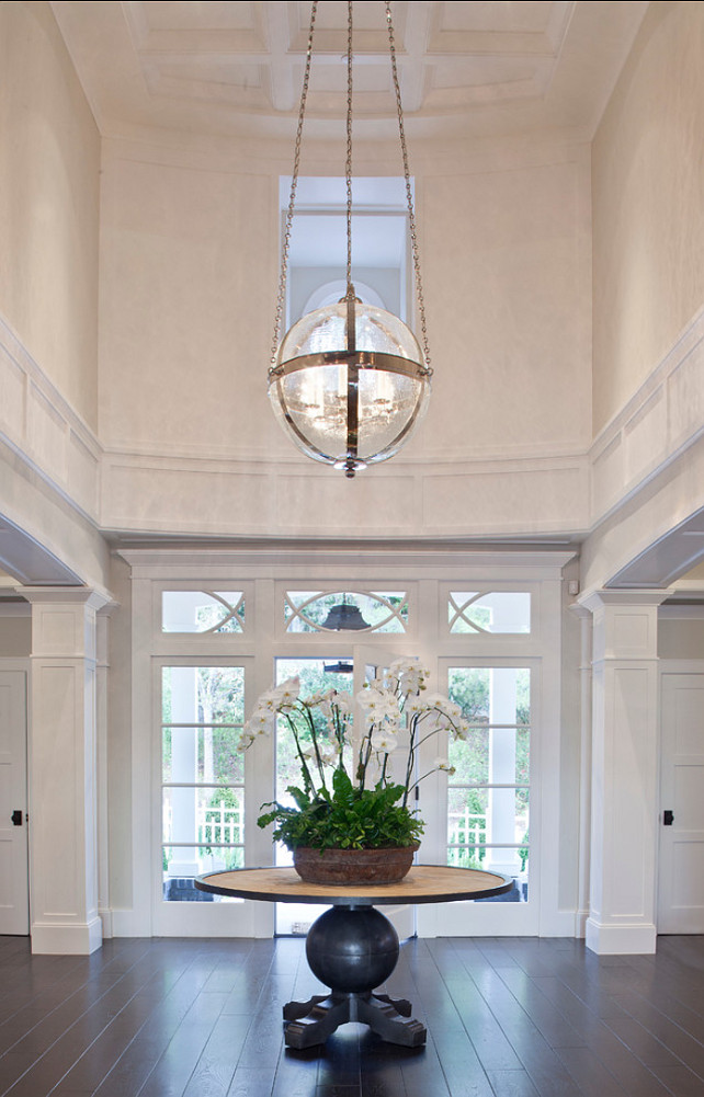 Home Foyer Lighting : Transitional family home with classic interiors