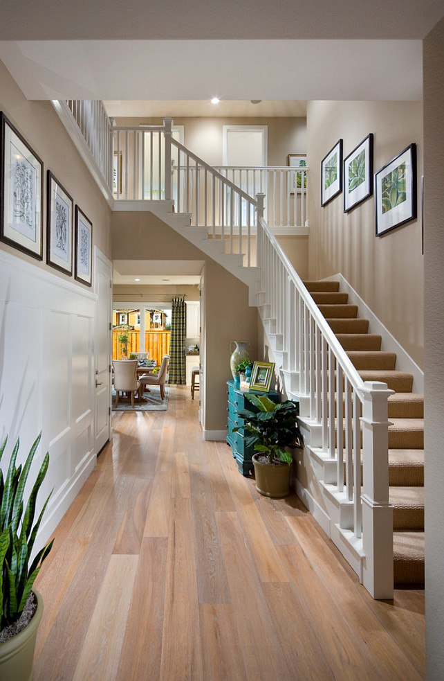 Foyer. Foyer Staircase. Foyer Hardwood Flooring. Foyer Paint Color. Foyer Color Scheme. Foyer Furniture. Foyer Layout. #Foyer Brookfield Residential Northern California.