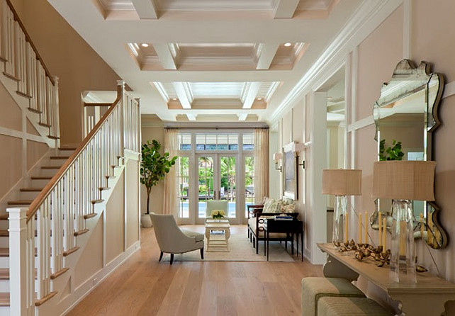 Foyer. Open Concept Foyer. Ficarra Design Associates via House of Turquoise.