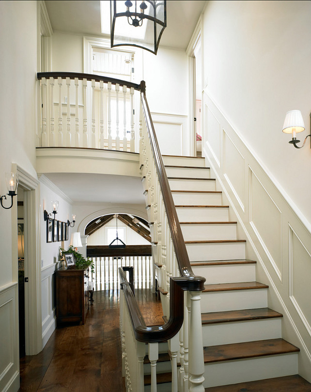 House Foyer Staircase : Martha s vineyard traditional coastal home bunch