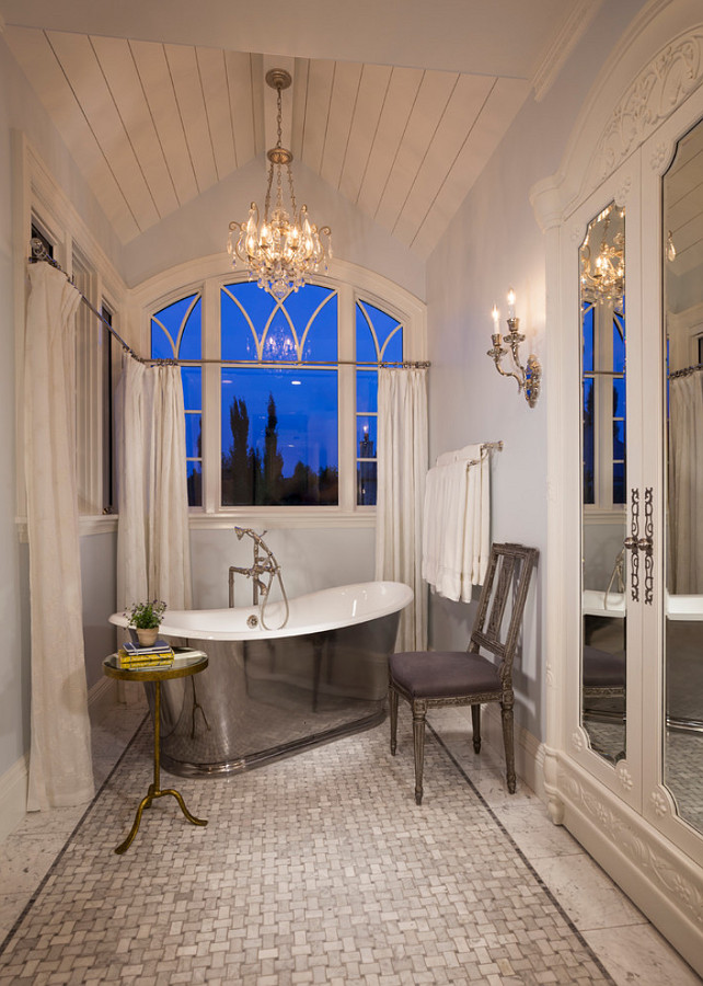 French Bathroom Design. THINK architecture Inc.