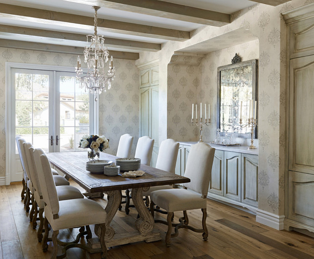 French Dining Room. #FrenchDiningRoom Palm Design Group.