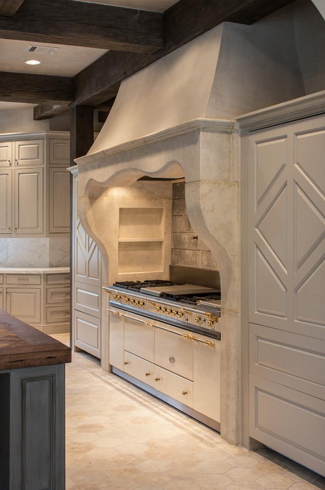 French Kitchen Hood. French Limestone Kitchen Hood. #FrenchHood #FrenchKitchenHood #LimestoneKitchenHood #FrenchLimestoneKitchenHood thompson custom homes