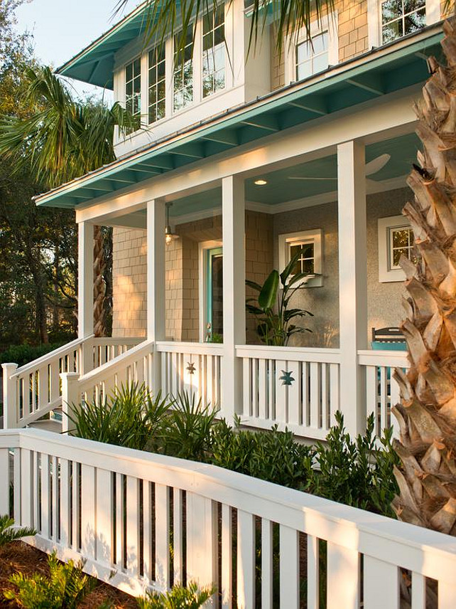 Front Porch. Coastal Inspired front porch. #Porch #FrontPorch #PorchIdeas