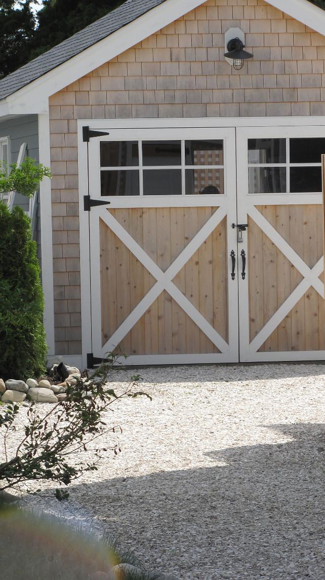 Garage. Shingle Garage. Garage Door. Garage Door Hardware. Garage Lighting. Detached Garage Design  #Garage