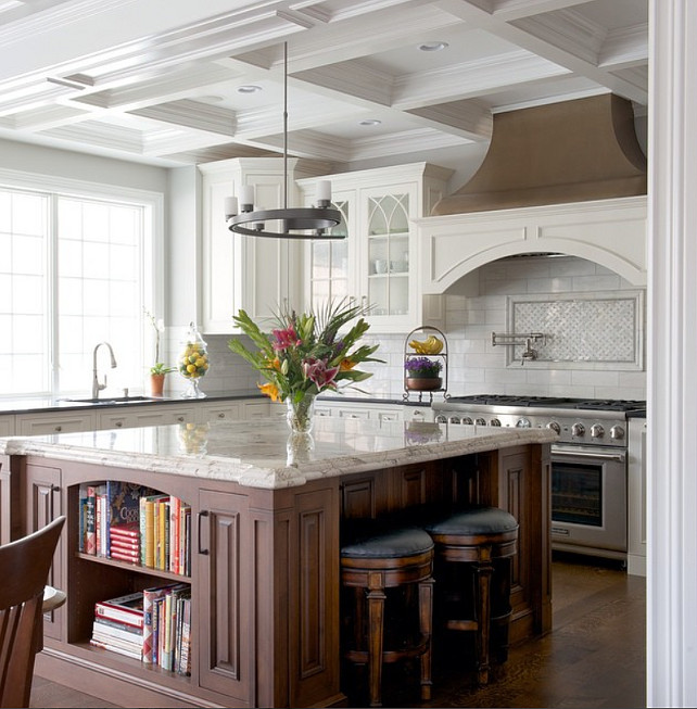 Granite Kitchen Countertop. This kitchen uses two types of granite countertop. #Kitchen #Granite #Countertop #Kitchen Color Concept Theory.