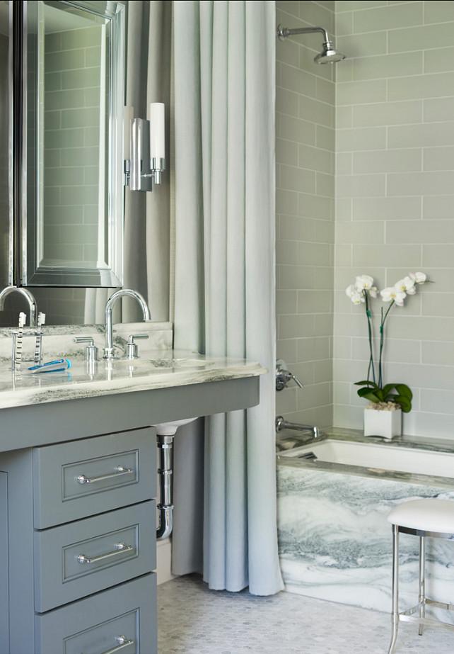 Gray Bathroom. Mark WIlliams Design Associates.