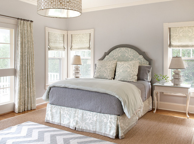 Gray Bedroom. Gray Bedroo. Pale Gray Bedroom Ideas. #PaleGrayBedroom #Bedroom #GrayBedroom Ben Gebo Photography. Annsley Interiors.
