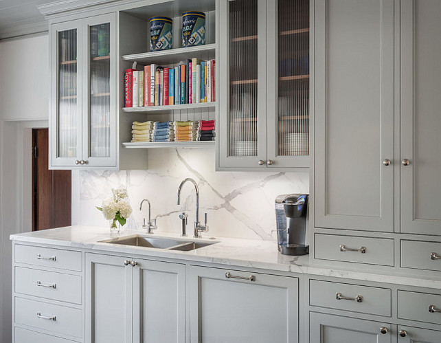 Gray Cabinet Benjamin Moore Metropolitan. Gray Kitchen Cabinet paint in Benjamin Moore Metropolitan. Cabinets are Benjamin Moore Metropolitan at 75% (it was lightened slightly). #BenjaminMooreMetropolitan #GrayCabinet