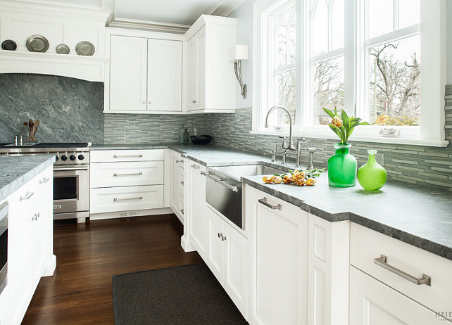 Gray Countertop. Gray Kitchen Counter top. Gray Countertop Ideas. Kitchen Gray Stone Countertop.#GrayCountertop #GrayStoneCountertop Heidi Piron Design.