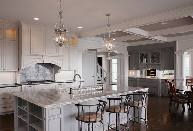 Gray Kitchen Paint Color. #GrayKitchen #PaintColor Gray Kitchen Cabinet Paint Color