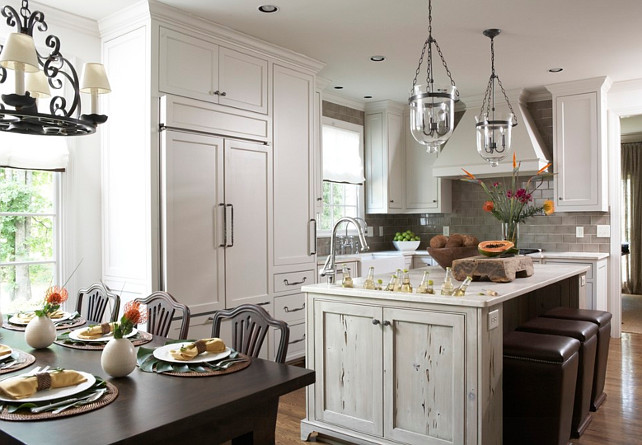 Gray Kitchen. Palet Gray Cabinets. Pale Gray Kitchen Ideas. Pale Gray Kitchen Paint Color. Pale Gray Kitchen Design. #PaleGrayKitchen #Kitchen #GrayKitchen  Dana Wolter.