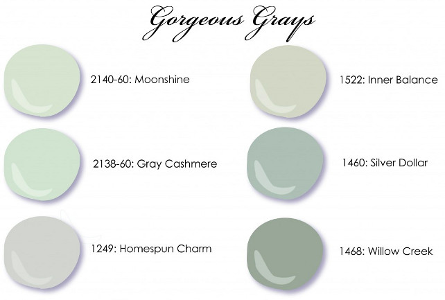 Gray Paint Color Benjamin Moore Moonshine Cashmere