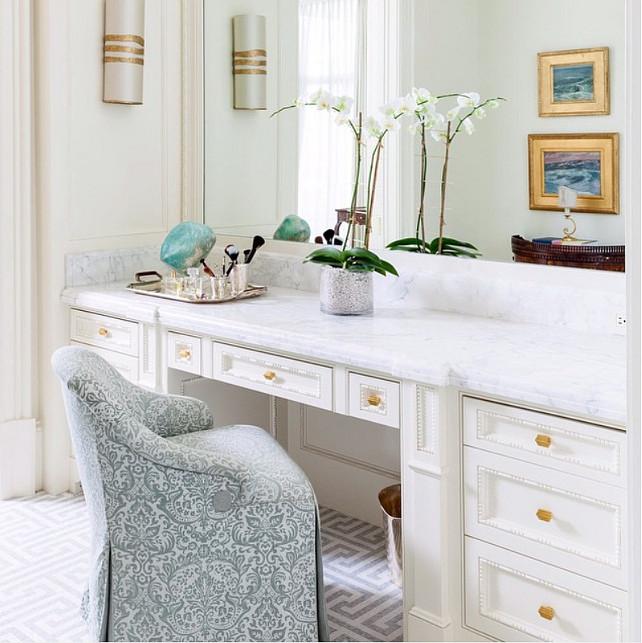 Greek Key Flooring. Bathroom with Ann Sacks Greek Key Tile Flooring. #GreekKey #GreekKeyFlooring #GreekKeyTiles #GreekKeyFloorIdeas #AnnSacks Collins Interiors