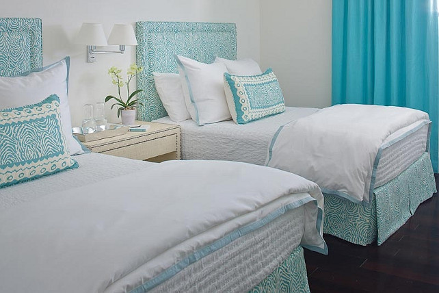 Guest Bedroom Fabric Choices. Anne Hepfer Designs.