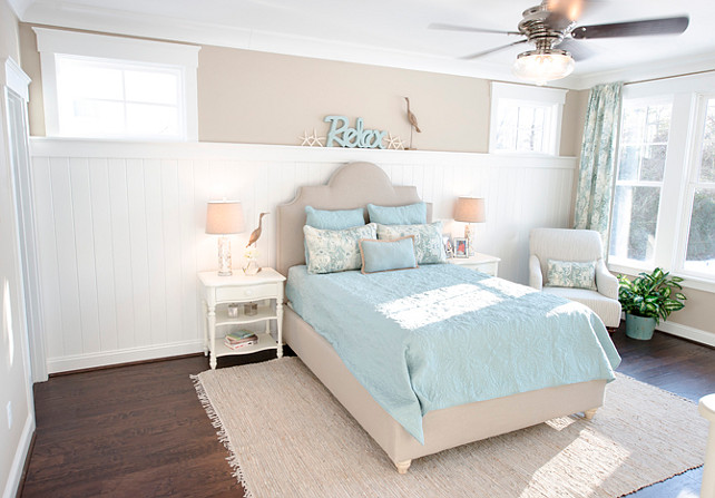 Guest bedroom. Affordable Guest Bedroom Decor Ideas. How to decorate your guest bedroom fast! Paint Color is SW7506 Loggia. #GuestBedroom