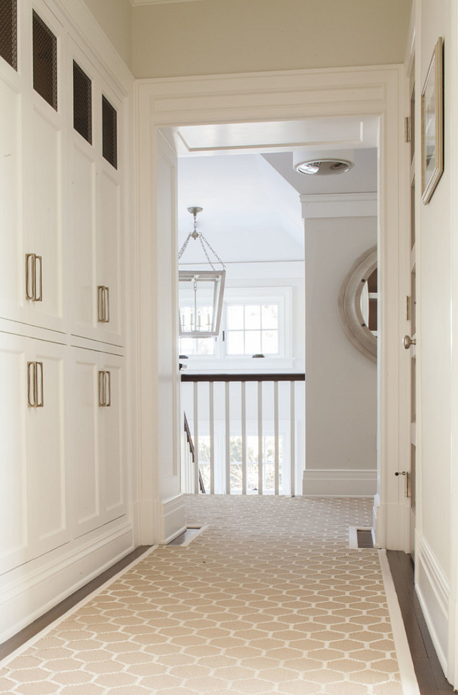 Hallway Linen Closet. Hallway Built-in Cabinet. #HallwayLineCloset #HalwayBuiltinCabinet #HallwayCabinet  S. B. Long Interiors