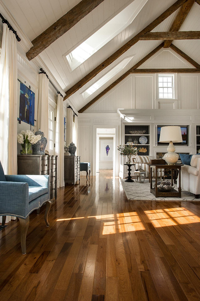 Hardwood Floor Ideas. Hardwood floors connect each space, creating a natural flow from room to room. Walnut Hickory Hardwood Floors. #WalnutHickoryFloors #HardwoodFloors
