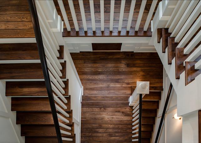 Hardwood Flooring Ideas. Custom Stained Hardwood Floors. The hardwood floors are Hickory and is natural. It is pre-finished. #HardwoodFloors #HardwoodFlooring #HardwoodFloorIdeas #Hickory