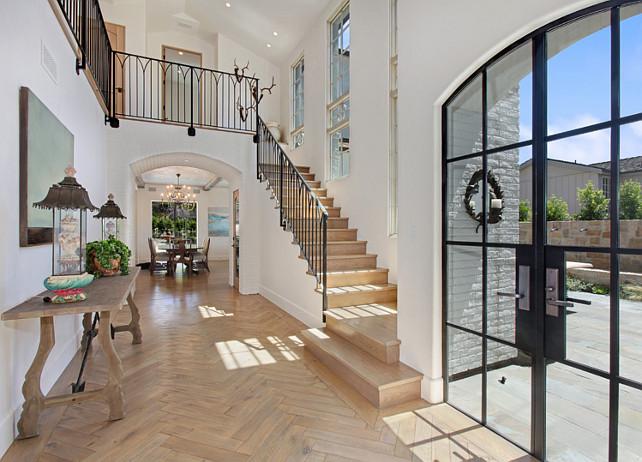 Hardwood Flooring Ideas. This is white oak flooring with a custom stain and finish. #HardwoodFlooring #WhiteoakFlooring Brandon Architects, Inc.