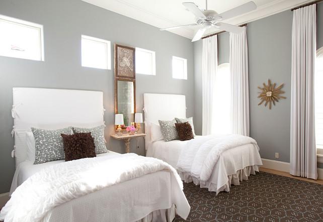 Headboard Ideas. Slipcovered bed headboard. #Headboard #Bedheadboard #SlipcoveredHeadboard Dodson Interiors.