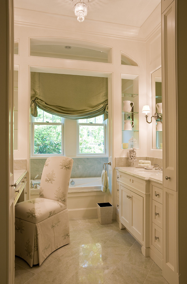 Hers Bathroom Design. SLC Interiors.