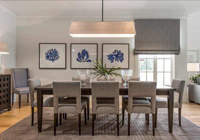 Dining Room. Dining room with coastal decor. #DiningRoom #CoastalDiningRoom