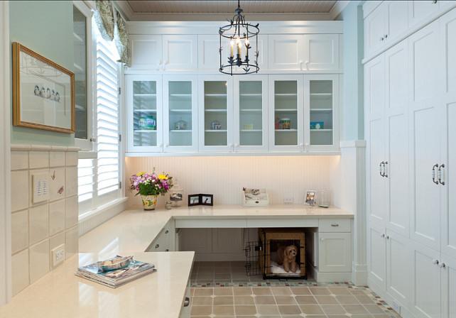 Hobby Room. Craft Room Ideas #HobbyRoom #CraftRoom Busby Cabinets.
