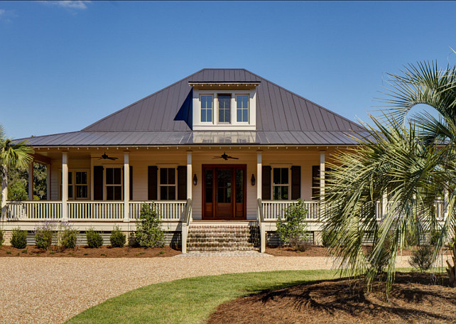 Country cottage with comfortable and neutral interiors - Country style exterior house colors ...